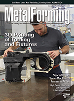 Metal Forming Magazine cover August 2017